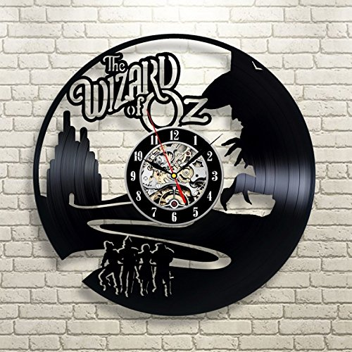 The Wizard Of OZ Vinyl Record Clock Wall Art Home (Broken Doll Costume Party City)