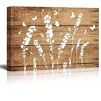 Artistic Abstract Flower on Vintage Wood Background, Quality Creation, Lovely Piece