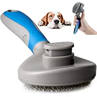 Cat Combs Self Cleaning Pet Grooming Brush Shedding Tool Ergonomic Cat Hair Remover Slicker for Cats and Dogs