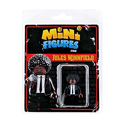 Custom Design Minifigure - Pulp Fiction Jules Winnfield - Collectable Toy Figurine For Kids, Men and Women | Movies: Toys & Games