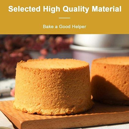 KOBWA - Juego de 3 sartenes antigoteo antiadherentes para Hornear quesos y Tartas, Incluye 4 sartenes de muelles de 18 cm y 9 cm para Mini quesos, ...