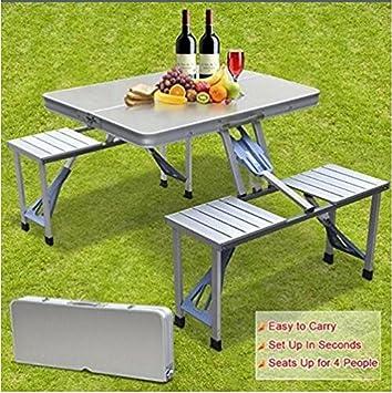 smartlife Aire Libre Split de Aluminio mesas Plegables y ...