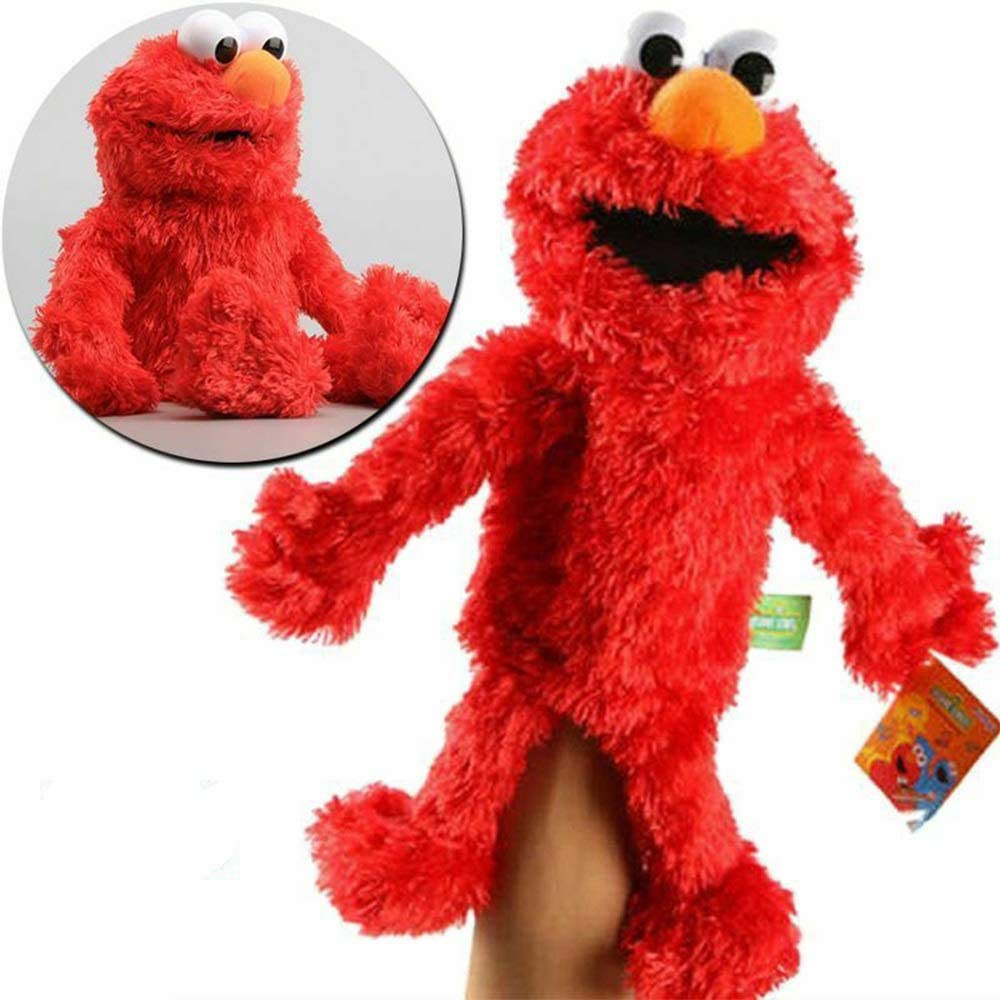 NOBRAND Barrio Sésamo El Show De Los Muppets,Juguete De Peluche Sesame Plush Hand Puppet Toy Sesame Street Plush Elmo Cookie Monster Hand Puppet Stuffed Animal Toy Juguete Educativo para Niños 31cm