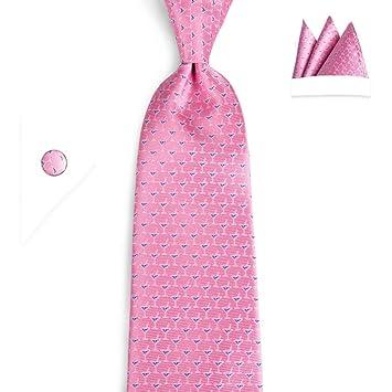 FDHFC Nuevo Pink Cup Pattern Ties para Hombres Moda Clásica Mans ...