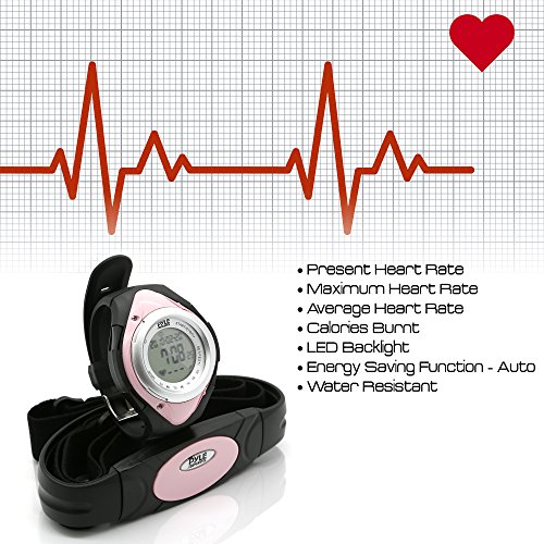 Pyle with Rate Healthy Sports Pedometer Activity Steps Counter Stop Resistant - Counter and Target Zones