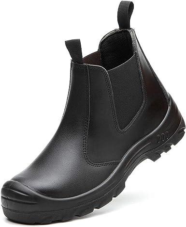 Dxyap Zapatillas de Seguridad Hombre con Puntera de Acero Ligeras Calzado Contra Golpes y Perforaciones Calzado de Trabajo: Amazon.es: Zapatos y complementos