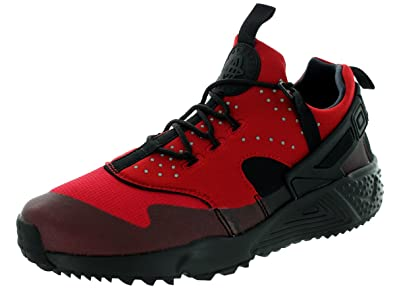 separation shoes 6ef8b 0a56b Nike Men s Air Huarache Utility Running Shoes Gym Rot Schwarz, ...
