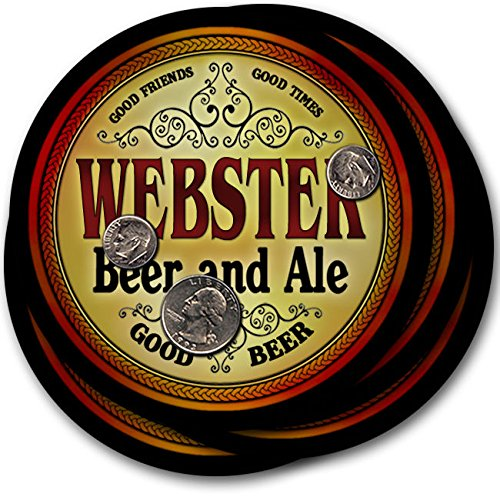 Webster Beer & Ale - 4 pack Drink Coasters (Webster Coasters)