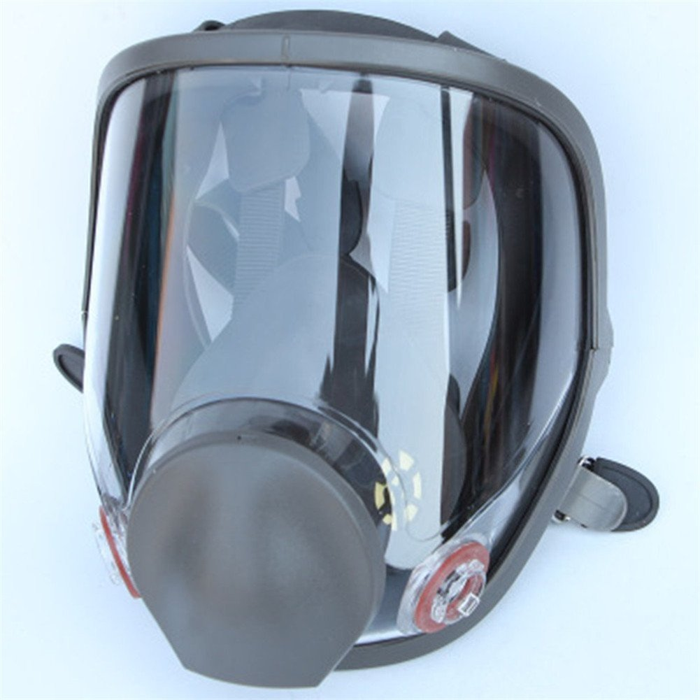 3 Pieces Gas Mask Full Face Facepiece Respirator Painting Spraying Multi Function Industry Anti-dust Comparable with 6800