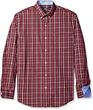 IZOD Men's Advantage Performance Non Iron Stretch Long Sleeve Shirt, Pure Fig, XX-Large