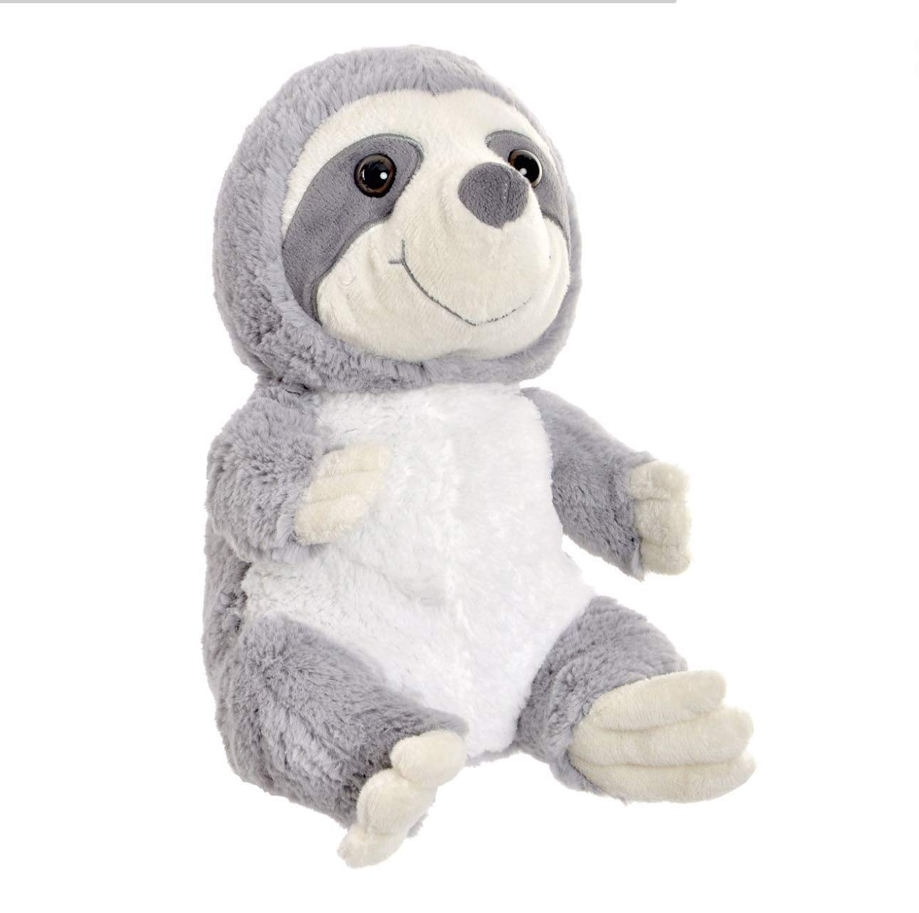 9.84 Grey Fabric Sloth Door Stop