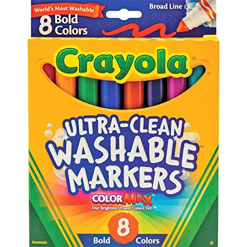 Crayola Washable Bold Broad Line Markers 8 Ea  Pack Of 2