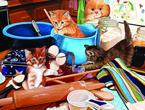 SunsOut Kittens in The Kitchen 1000 Piece Jigsaw Puzzle