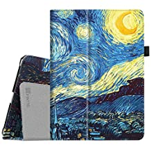 "Fintie New iPad 9.7 Inch 2017 / iPad Air 2 / iPad Air Case - [Corner Protection] Premium PU Leather Folio Smart Cover Auto Sleep / Wake for Apple iPad 9.7"" 2017 Release, iPad Air 1 2, Starry Night"