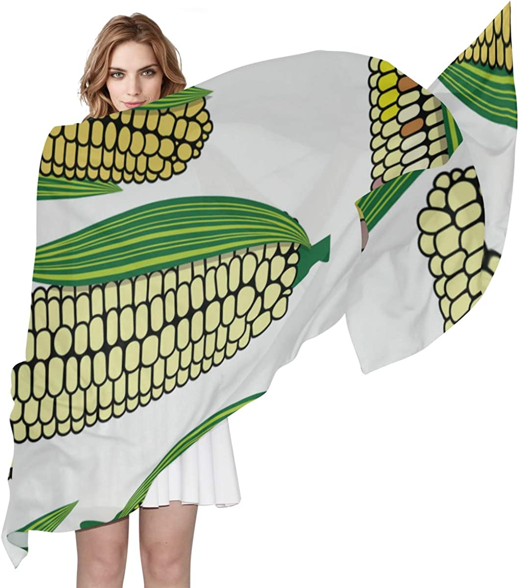 Harvest Of Mature Corn Unique Fashion Scarf For Women Lightweight Fashion Fall Winter Print Scarves Shawl Wraps Gifts For Early Spring