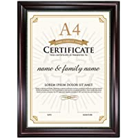 GraduationMall Certificate Document Picture Frames A4 Mahogany Diploma Holder Wall Tabletop Display