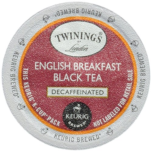 Twinings English Breakfast décaféiné thé, K-Cup Portion Pack pour Keurig K-Cup Brewers, 24-Count