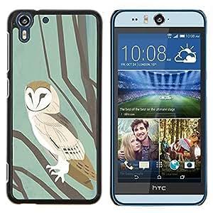 Stuss Case / Funda Carcasa protectora - Escuela en colores pastel de la acuarela del trullo de Brown - HTC Desire Eye M910x