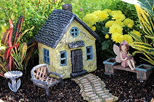 6 Piece Fairy Garden Village Accessories Set Kit Miniature