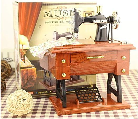 JAWM Caja de música Mini máquina de Coser Estilo Mesa decoración ...