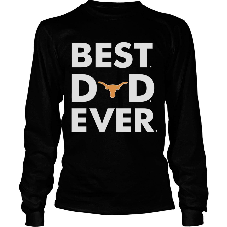 2019 Texas Longhorns T Shirt Best Dad Ever T Shirt Tees S 2547