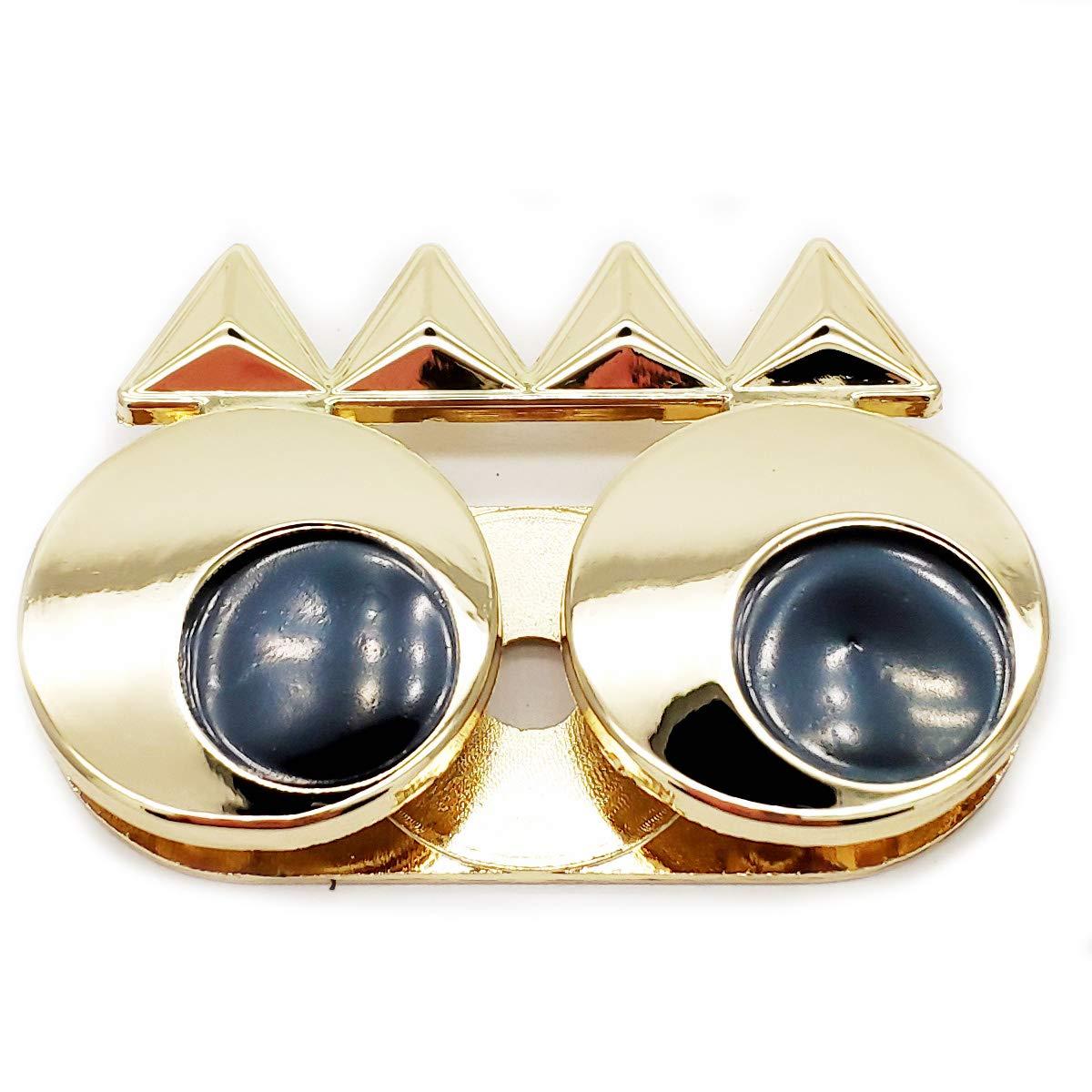 2 Sets Gold Tone Purse Magnetic Lock Metal Eyes Shape Lock 2x1inch TB-0633