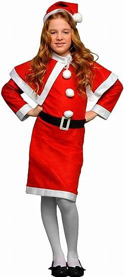 Atosa-69209 Atosa-69209-Disfraz Mamá Noel niña infantil-talla 10 a ...