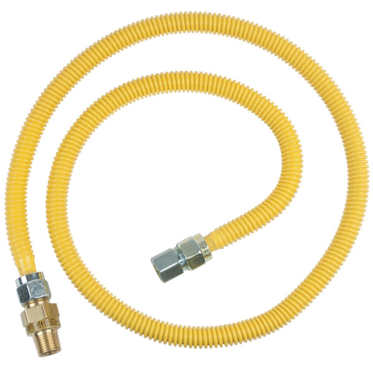 Brasscraft Cssc45R60 P Safety Plus Gas Appliance 5/8'' Od Connector With 1/2'' Mip Efv x 1/2'' Fip x 60''