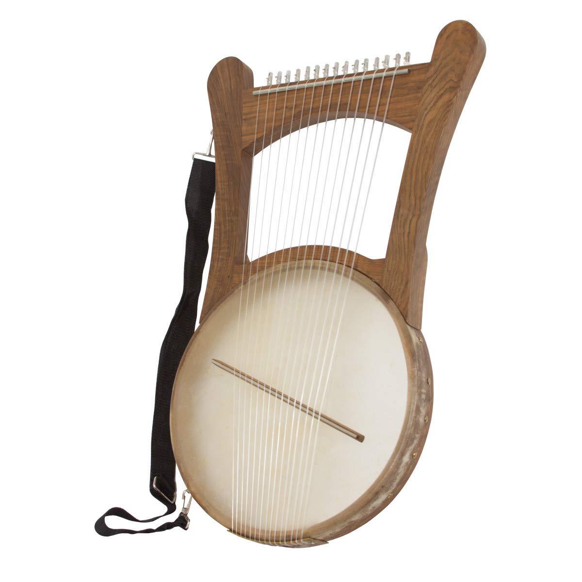 King David Nevel Harp - Walnut