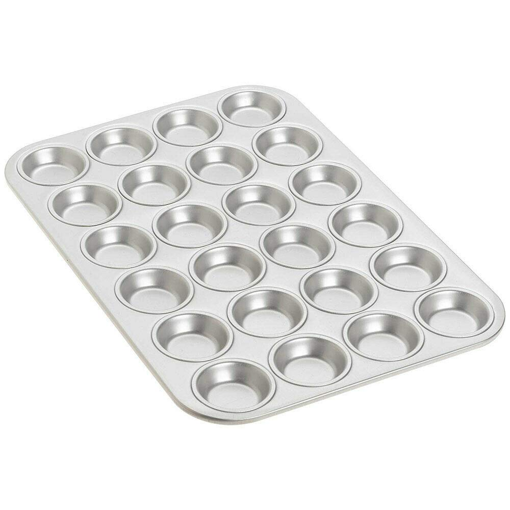 oldzon MFN-Mini Anodized Aluminum Mini Cupcake Muffin Pan, 24 Cavities with Ebook by oldzon (Image #3)