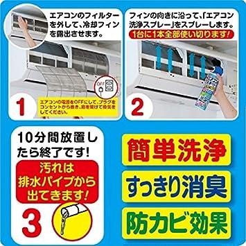 エアコン洗浄スプレー使い方