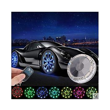 4 Piezas Cubo de la Rueda Automóvil Solar Lámpara LED para neumáticos Luces Decorativas a Prueba