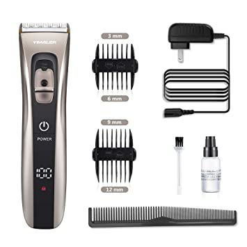 bbce52c40b78 Hair Clippers, Yimaler Cordless Hair Trimmer for Men Electric Hair Cutting  Kit Shaver with USB...