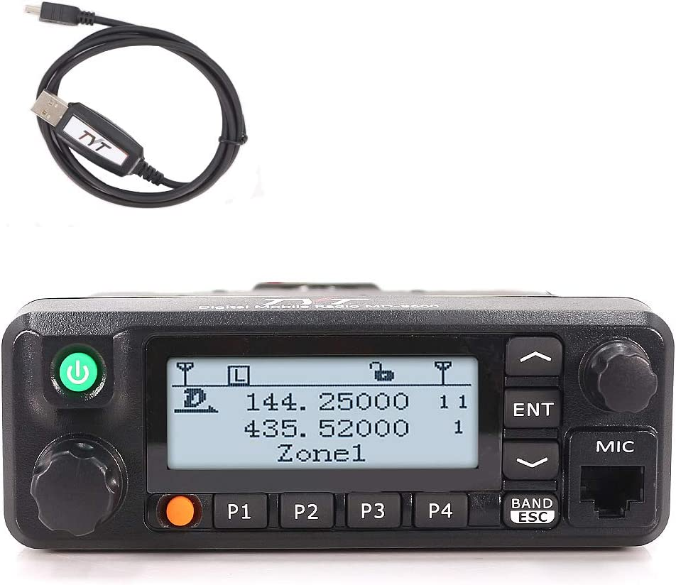 TYT MD-9600 Transceiver, 50W Mobile DMR Car Ham Radio,Compatible with RT90 Digital 136-174 400-470 MHz Dual Band Two-Way Radio Transceiver 3000 Channels 50 45 25W DMR GPS Fcuntion Available