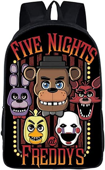 Five Nights At Freddy/'s Bag Freddy Backpack Chica Foxy Bonnie FNAF Shoulder Book