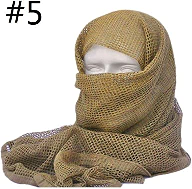 "Tactical Mesh Scarf Wrap Mask Shemagh Sniper Veil 68/""x33/"" Camo Black Khaki OD"