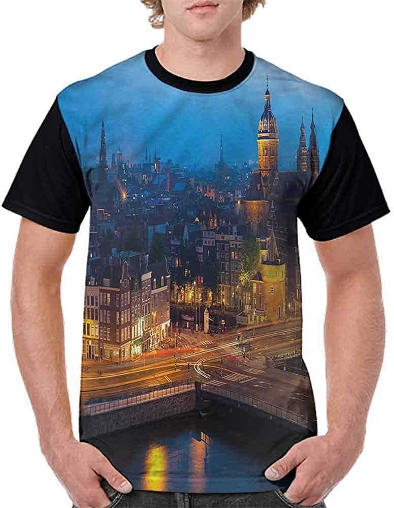 Vintage T-Shirt,Abstract Urban Downtown Fashion Personality Customization