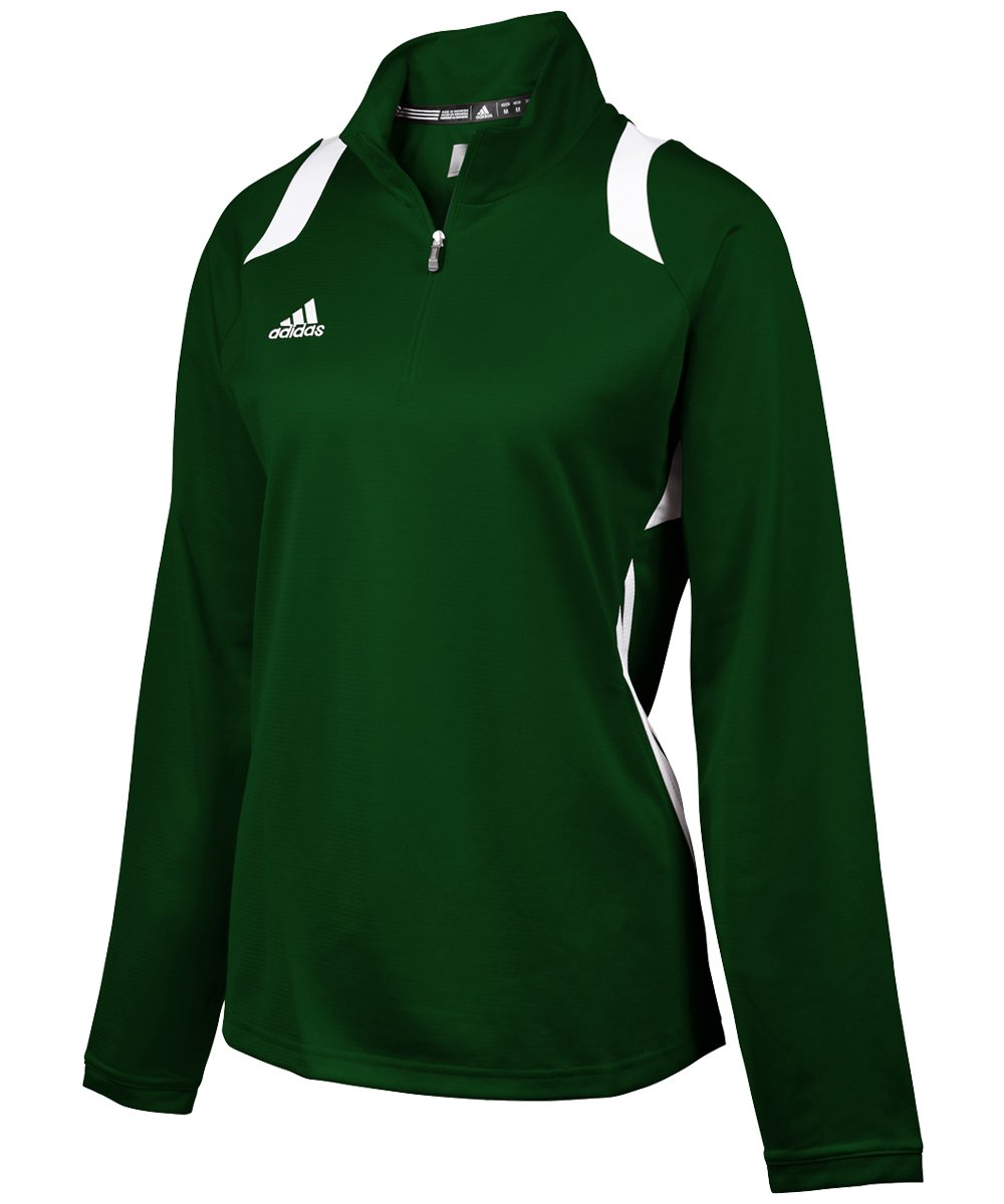 adidas Women's Game Day 1/4 Zip - Forest/White - X-Large by adidas