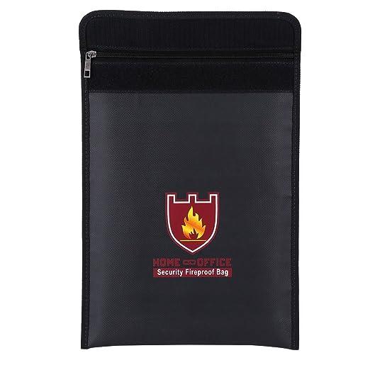 Bolsa Ignifuga, Bolsa Ignifuga Impermeable, Bolsa de Documentos, del Material Ignífugo, Incombustible de Doble Cara