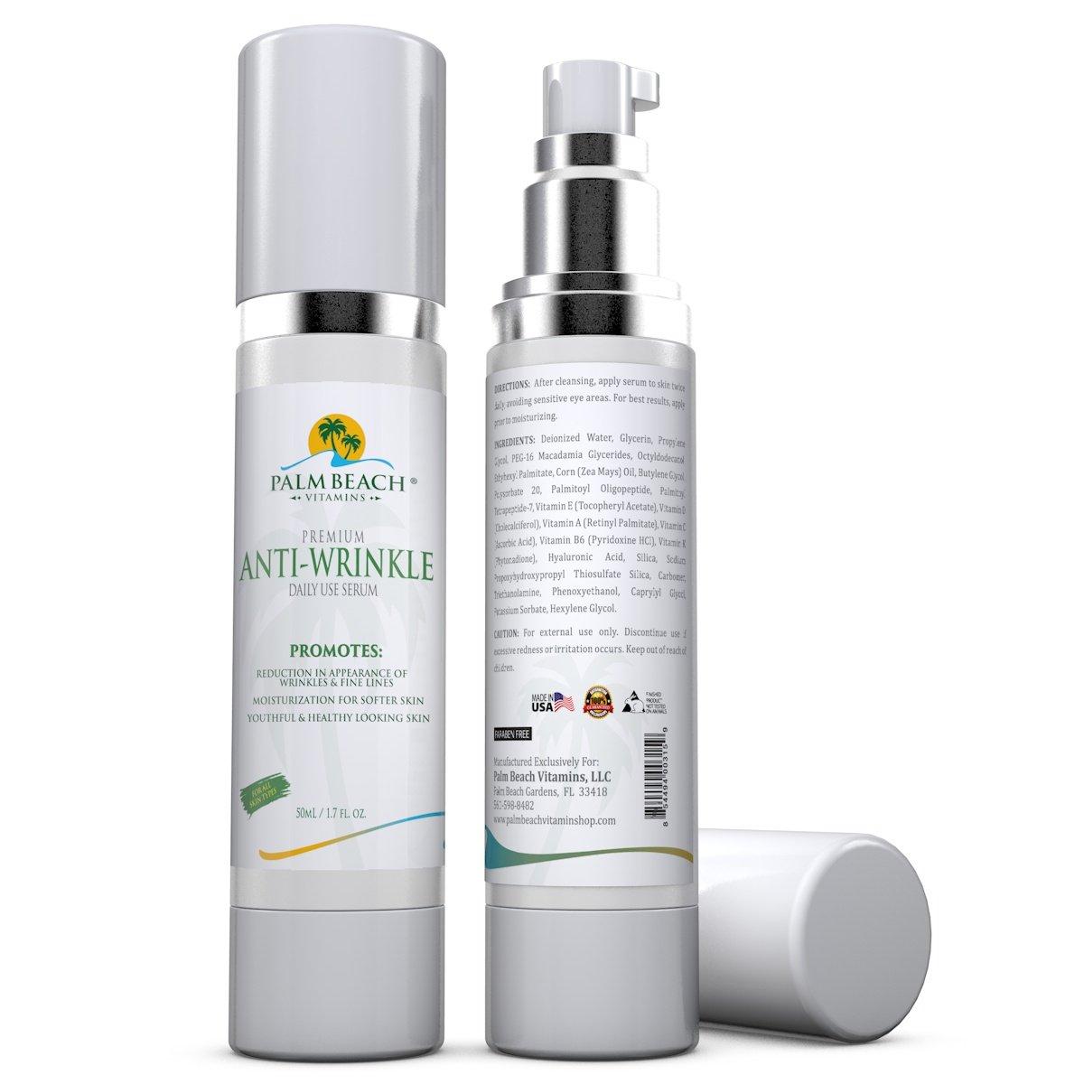 Amazon.com: Suero Antiarrugas con Acido Hialuronico -Ayuda a reducir las líneas de expresión y las arrugas- Uso diario 1.7 oz: Health & Personal Care