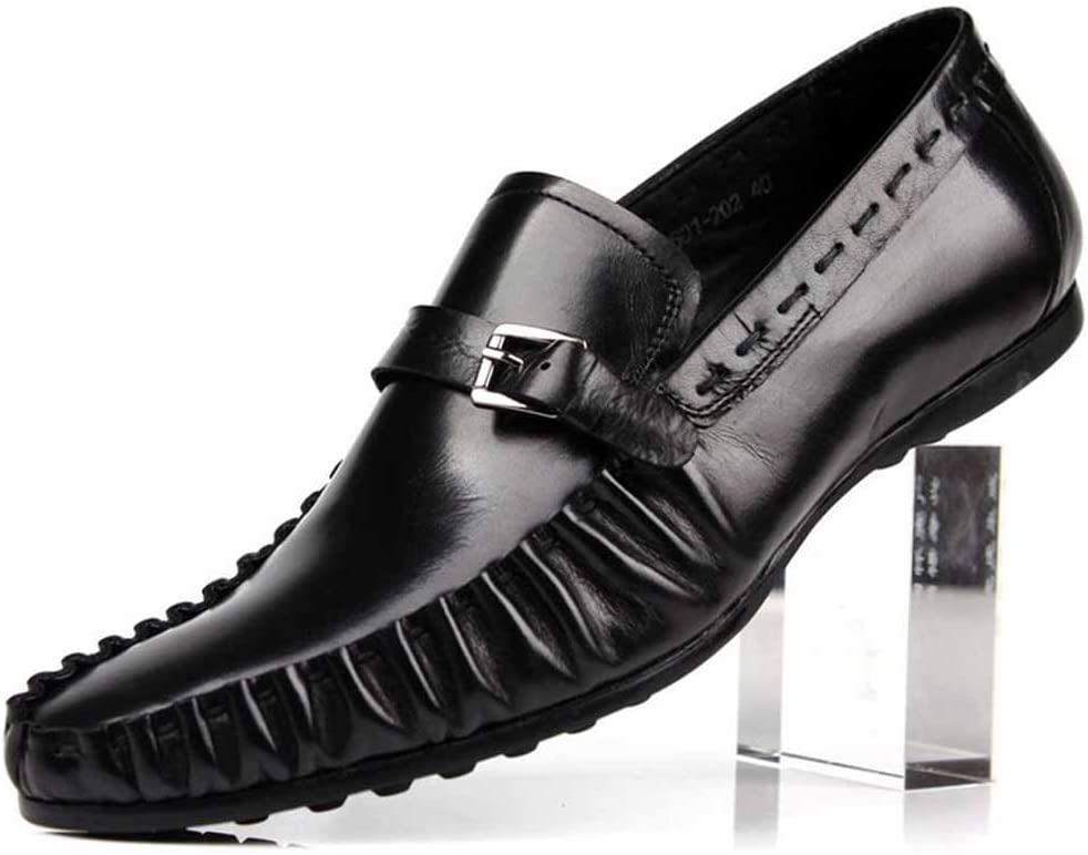 GLSHI Men Business Dress Shoes New Oxford British Work Leather Shoes Fashion Driving Shoes
