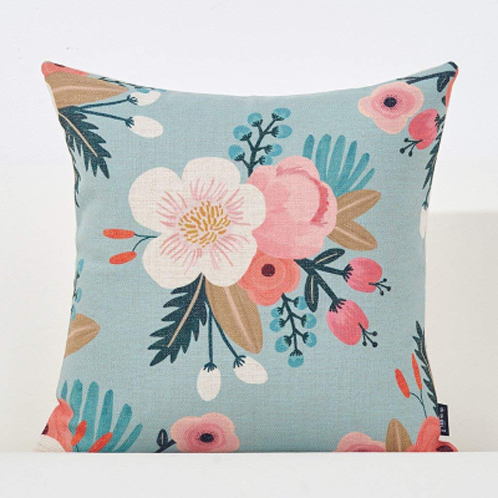 Polymer Soft Pillow 45X45Cm Square Modern Creative Sofa Cushion Office Bedside Cushion XXPP (Size : 45x45CM)