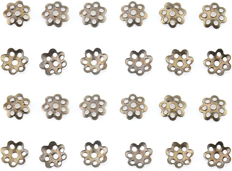 Gold, 3x14mm ALLinONE Filigree Flower Cup Shape Bead Caps for DIY Jewelry Making