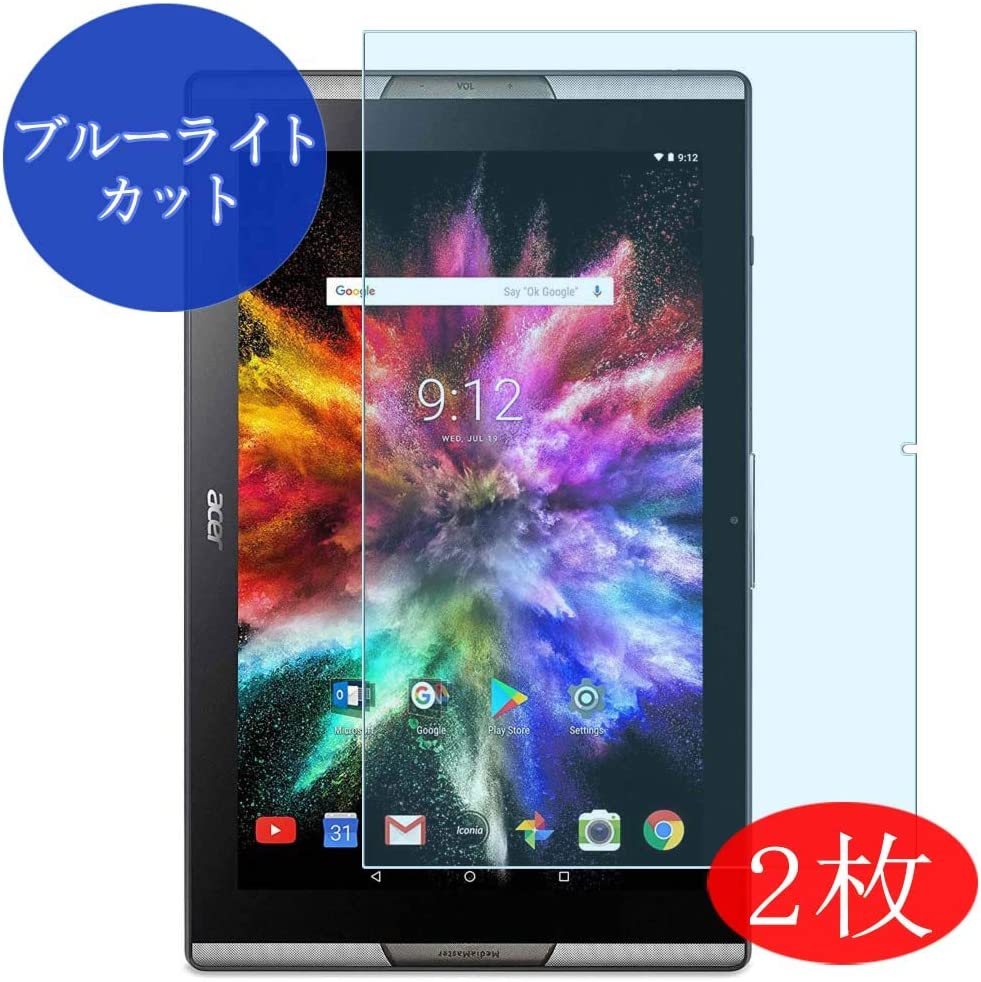 "【2 Pack】 Synvy Anti Blue Light Screen Protector for ACER ICONIA TAB 10 A3-A50 10"" TAB10 Anti Glare Screen Film Protective Protectors [Not Tempered Glass]"