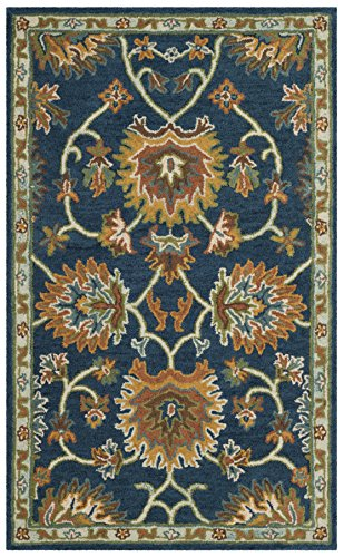 Safavieh Heritage Collection HG654A Handcrafted Traditional Navy Premium Wool Area Rug (2' x ()