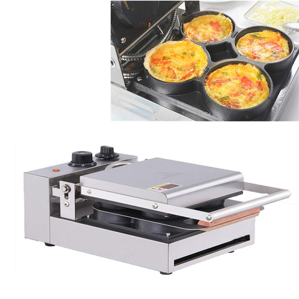 ANGELA Commercial Pizza Machine with 4 Heating Plates, New Electric Domestic Kitchen Baking Snack Maker, for Fried Egg and Melaleuca, for Snack Bars use by ANGELA
