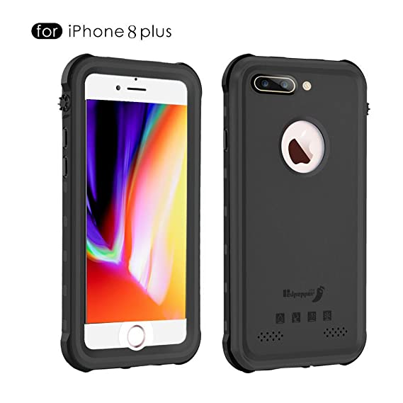 buy online b5f2e dc502 iPhone 8 Plus Waterproof Case,Mangix Waterproof with Touched ID Transparent  Screen Protector Heavy Duty Protective Carrying Cover Case includes Back ...