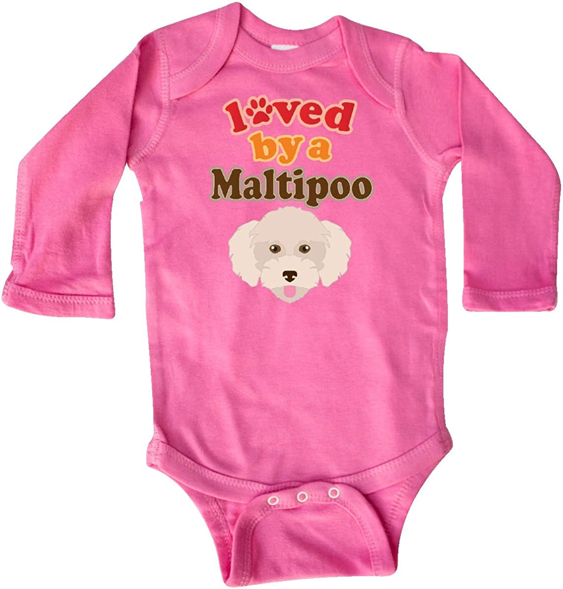 inktastic Maltipoo Dog Gift Poodle Maltese Long Sleeve Creeper