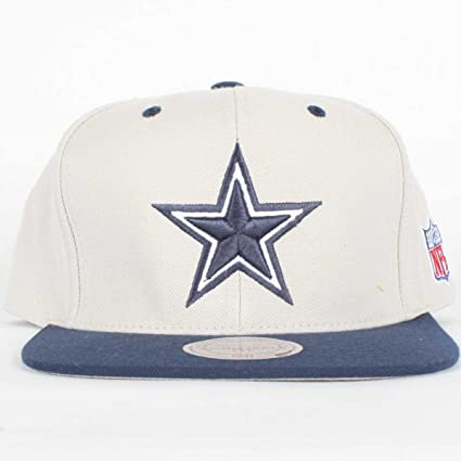 723ee851a62 Image Unavailable. Image not available for. Color  NFL Mitchell   Ness  Dallas Cowboys Gray-Navy Blue Two-Tone Vintage Snapback Adjustable
