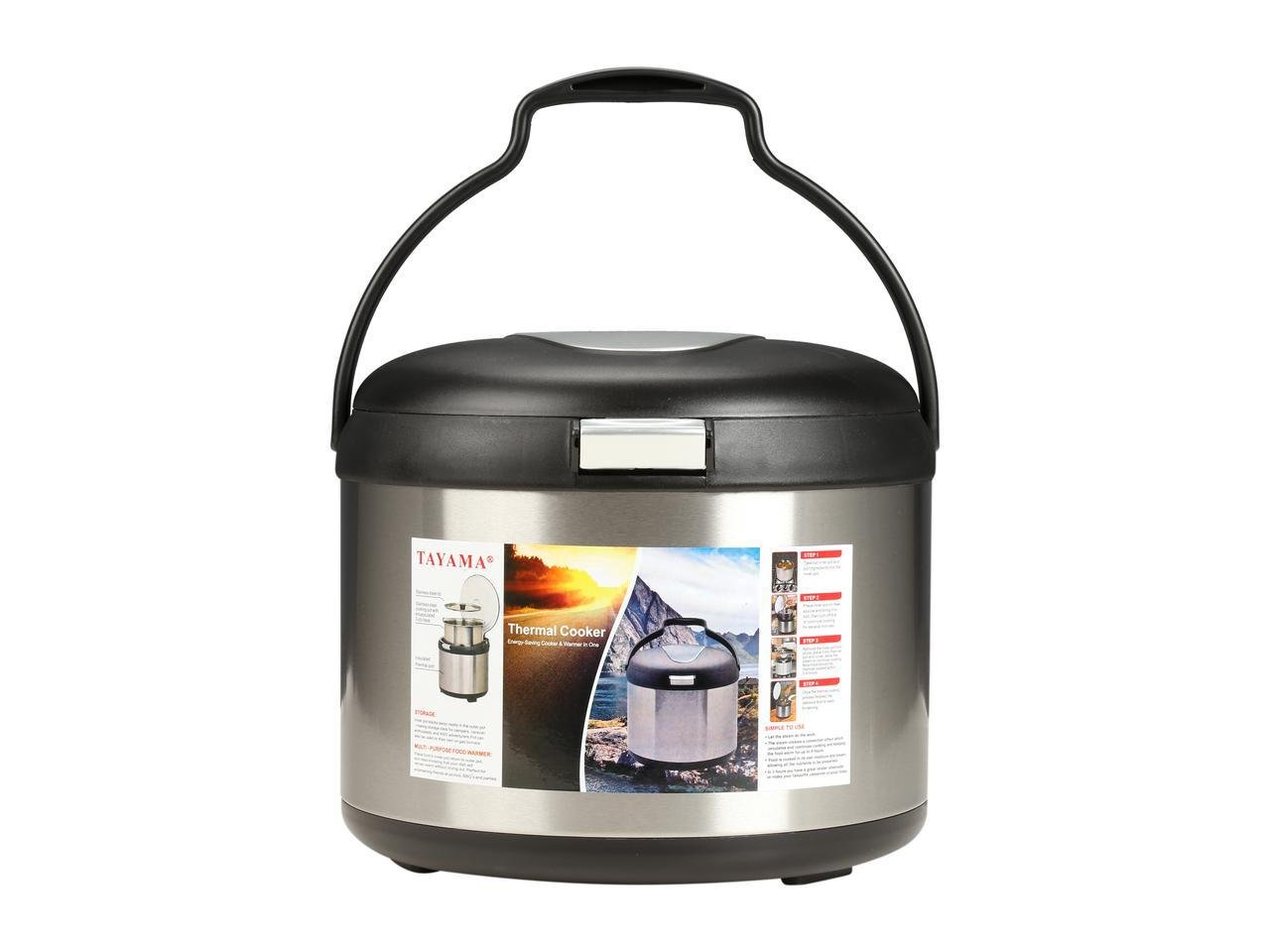 Tayama TXM-50CF Energy-Saving Thermal Cooker, 5 L, Black by TAYAMA (Image #3)